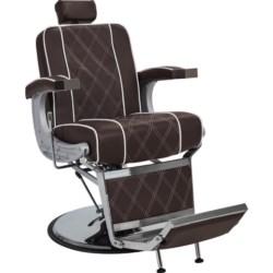 AYALA fotel barberski BORG brązowy