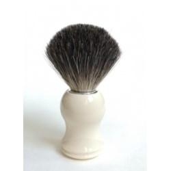 Pędzel do golenia borsuk biała rączka
