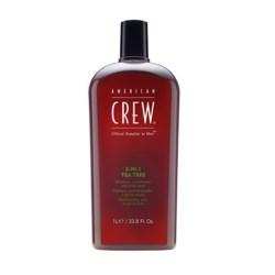American Crew Classic 3w1 szampon odżywka i żel pod prysznic o zapachu drzewa herbacianego 1000 ml