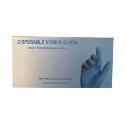 """Rękawiczki nitrile niebieskie 9""""  M niebieskie pudełko"""