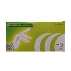 """Rękawiczki nitrile białe 12""""  L zielone pudełko"""