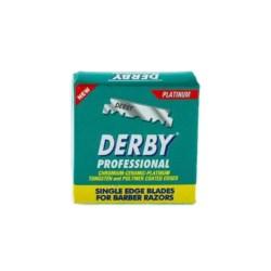 Derby Platinum zielone - połówki żyletek 100 szt.