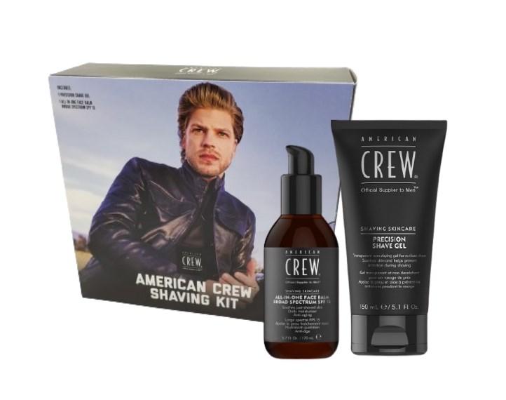 American Crew Shaving Kit Precision Shave Gel + Face Balm zestaw do golenia