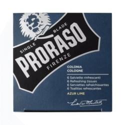 Proraso Blue Azur Lime Tissues odświeżające chusteczki 6 szt.