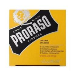 Proraso Yellow Wood and Spice Tissues odświeżające chusteczki 6szt.