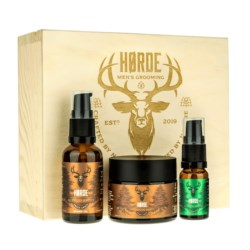 Horde Smoky Amber zestaw: olejek 30ml + balsam 50ml + olejek L.10ml
