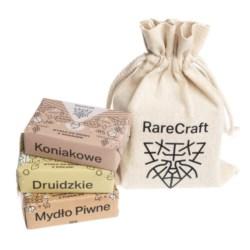 RareCraft zestaw 3 mydeł do brody 3x110g w woreczku