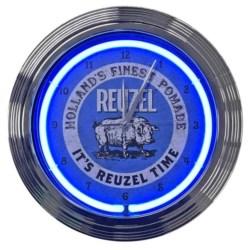 Reuzel zegar podświetlany niebieski
