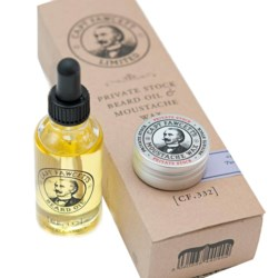 Captain Fawcett zestaw olejek Private Stock 50 ml + wosk do wąsów 15 ml