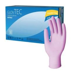 Rękawiczki nitrile pink + GlovTec S